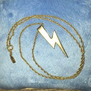 Vintage Hallmark Lightning Bolt Necklace Goldtone